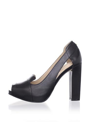 Kat Maconie Women's Jane Peep-Toe Pump (Black)