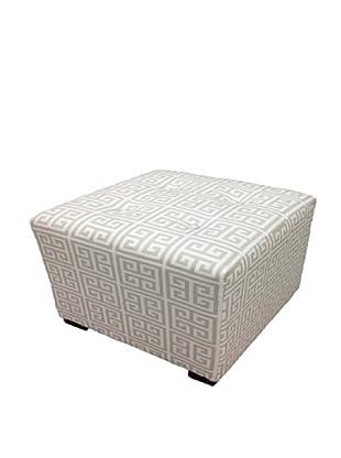 Sole Designs Kasumi Chain Ottoman, Light Grey