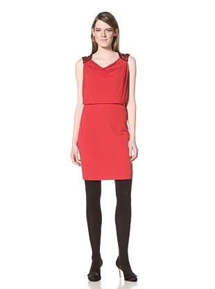 Chetta B Women's Embellished Shoulder Blouson Dress (Rouge)