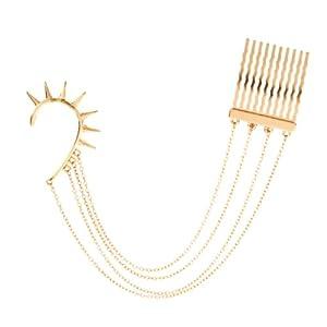 Arabesque Bajoran Inspired Slip-On Ear Cuff Comb By Via Mazzini