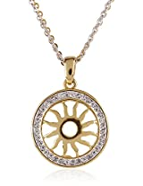 Estelle Gold and Silver Plated Pendant With Crystals (356)