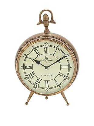 Gold Roman Numeral Desk Clock