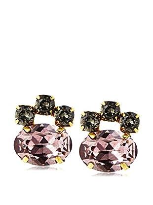 Tova Sparkling Pink & Antiqued Crystal Earrings