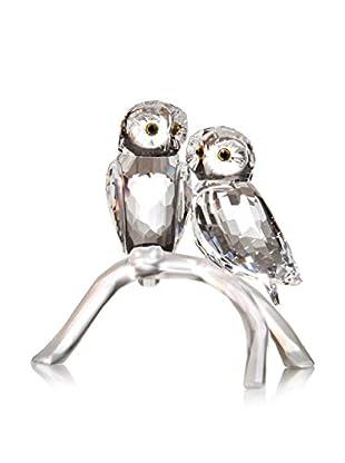 Swarovski Pair of Owls on Branch Figurine