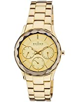 Skagen End-of-Season Chronograph Gold Dial Women Watch - 344LGXG
