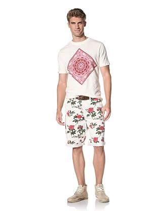 Under 2 Flags Men's Woven Shorts (Antique Print-Cream Multi)