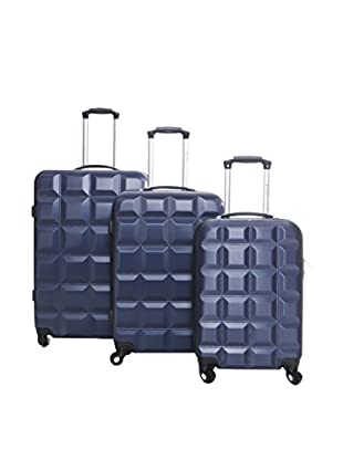 Geographical Norway Set de 3 trolleys rígidos Savana