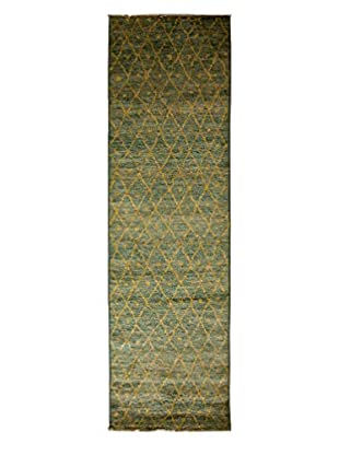 Darya Rugs Moroccan Hand-Knotted Rug, Light Blue, 2' 9