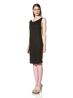 Loomstate 321 Knits Women's Akan Dress 4 Layer Tank Dress (White/Yellow/Blue/Black)