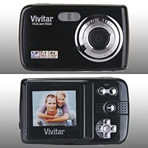 Vivitar 7022 Vivicam 7.1MP Digital Camera with 4X Optical Zoom (Black)