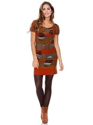 LAVAND Vestido Busy Lines (Naranja)