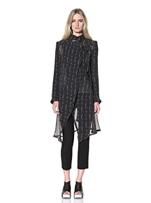 Ann Demeulemeester Women's Long Wrap Coat (Black)