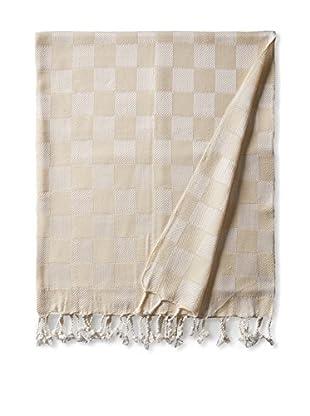 Nomadic Thread Handwoven Towel Cube, Natural/Natural