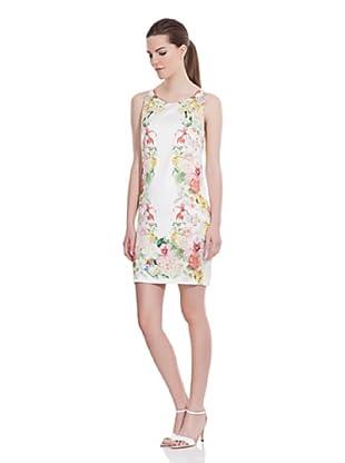 Cortefiel Vestido Estampado Flores (Crudo)