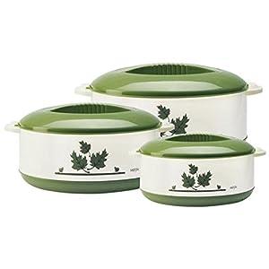 Milton Orchid Junior Insulated Casserole Set, 3,Pieces, Green ,(EC-THF-FTK-0016_GREEN)