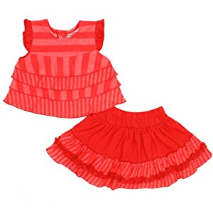 Jelly The Pug Cayenne Tiered Sleeveless Top and Skirt Set