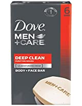 Dove Men Plus Care Body and Face Bar, Deep Clean, 6 Count