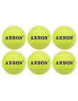Axson Unisex Rubber Tennis Cricket Ball Heavy, Set Of 6 Green