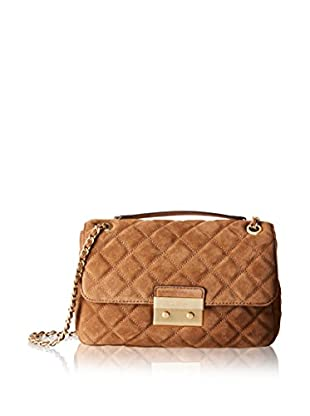 Michael Kors Bandolera Sloan Lg Chain Shoulder Quilted Suede B