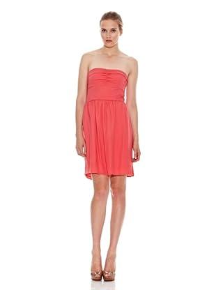 Naf Naf Vestido Palabra De Honor Ange (Coral)