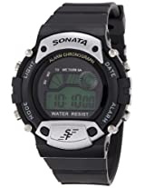 Sonata Digital Grey Dial Men's Watch - 7982PP02