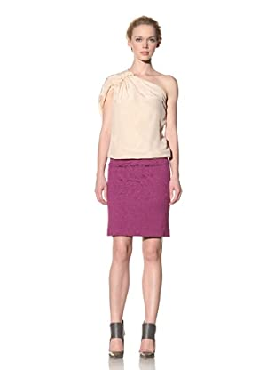 Philosophy di Alberta Ferretti Women's One-Shoulder Silk Top (Light Tan)