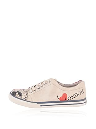 Dogo Zapatillas I Love London (Crema)