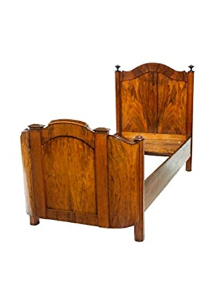 19th-C. French Walnut Bed, Brown