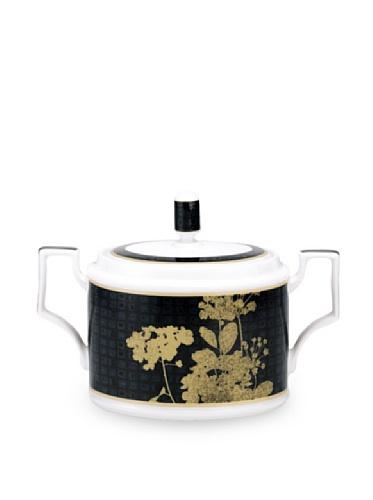 Noritake Everyday Elegance Verdena Sugar Bowl with Cover, Gold, 11.5-Oz.