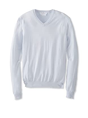 Salvatore Ferragamo Men's V-Neck Sweater (Sky Blue)