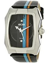 EOS New York Men's 216LBLUORG Heist Blue and Orange Stripe Black Sport Watch