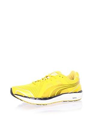 PUMA Men's Faas 550 Running Shoe (Yellow/White/Silver)