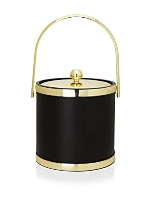 Kraftware Sophisticates 3-Qt. Ice Bucket with Track Handle (Brass)