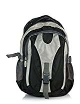 President Marble Polyester 30 liters Black And Grey Laptop Backpack