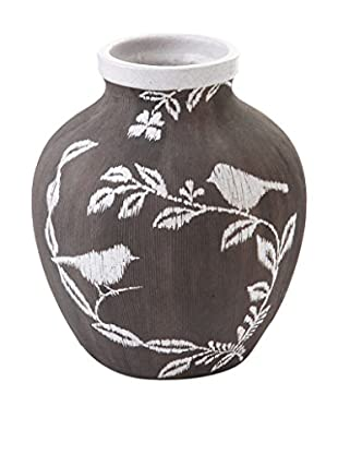 Napa Home and Garden Mykonos Small Urn, Gray/White