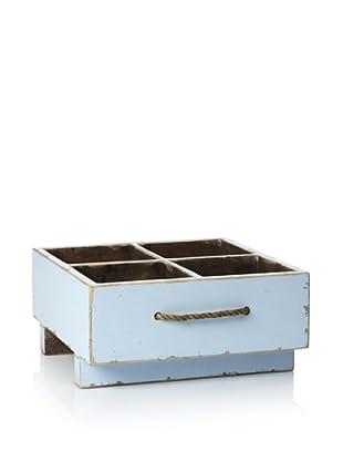Antique Revival Rustic Milk Crate (Aqua)