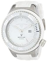 Swiss Legend Men's 11818A-02-WHT-W Neptune Automatic White Dial White Silicone Watch