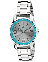 Fastrack Analog Silver Dial Women's Watch - 6111SM01