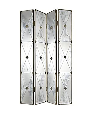 Donny Osmond Home 4-Panel Mirrored Screen, Clear/Gold