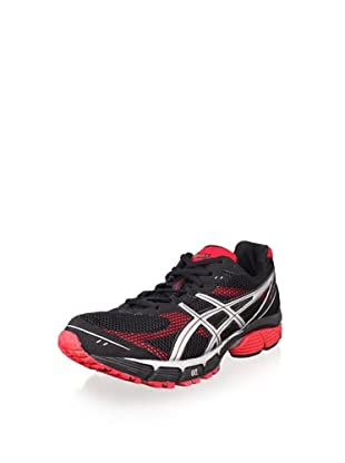 ASICS Men's Gel-Pulse 4 Running Shoe (Black/Silver/Flame)