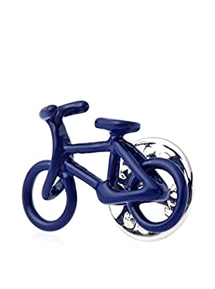 Link Up Blue Bicycle Lapel Pin