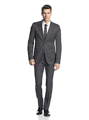 Calvin Klein Collection Men's Bowery Two Button Suit (Squirrel Grey)