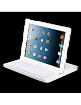 MyBat Co-Molded Bluetooth Wireless Keyboard for iPad 3/iPad 4, White (NEWIPADBLTOKB021)
