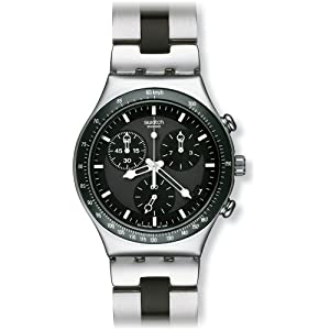 Swatch Irony Analog Black Dial Men's Watch - YCS410GX