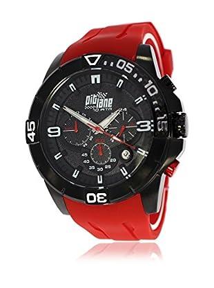 Pit Lane Uhr mit Miyota Uhrwerk Pl-1009-4 rot 50 mm
