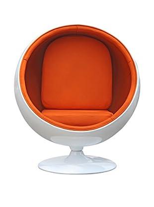 Manhattan Living Ball Chair, Orange