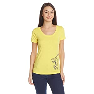 CSK Lion T-Shirt, Ladies Small (Yellow)
