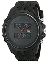 U.S. Polo Assn. Sport Men's US9269 Black Analog-Digital Rubber Strap Watch
