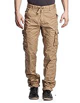 Beevee Men's Cargo Pants (FMCR1602KHAKI_38_Beige_38)