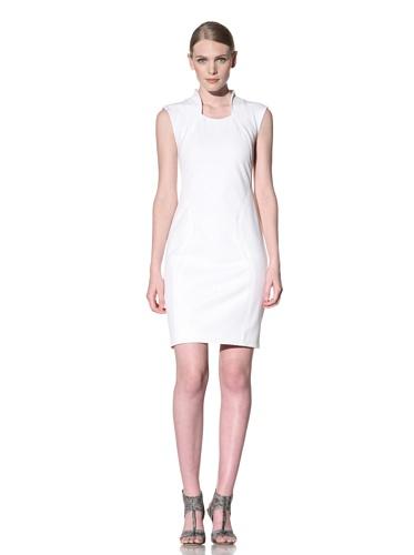 Christian Siriano Women's Scalloped Shell Dress (White)